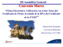 III Asamblea General: Firma Electrónica