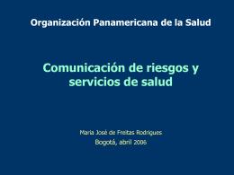 Comunicación de riesgo y los servicios de salud