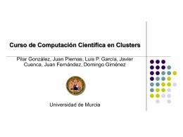 Curso de Computación Científica en Clusters