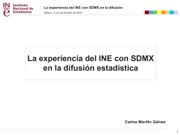 Experiencia SDMX INE