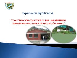 """Experiencia Significativa: """"CONSTRUCCIÓN"""
