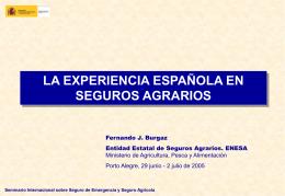 La experiencia española en seguros agrarios