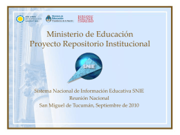 Repositorios Institucionales de Documentación Educativa