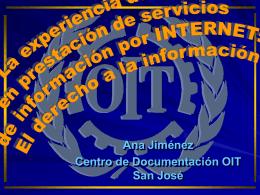 La experiencia de la OIT en servicios de información por