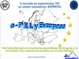 ePel y Europass. Una experiencia en el aula bilingüe