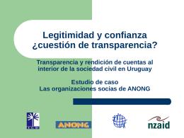 Transparencia y rendición de cuentas al interior de la sociedad civil