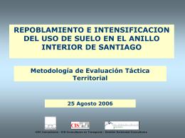 Presentación estado de avance a agosto 2006 Anillo Interior