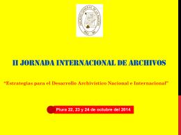 CUADRO DE NECESIDADES - Archivo General de la Nación