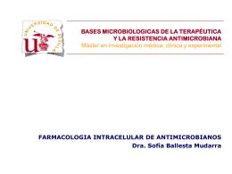 bases microbiologicas de la terapéutica y la resistencia