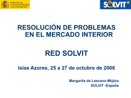 RESOLUCIÓN DE PROBLEMAS EN EL MERCADO INTERIOR RED