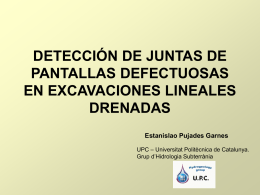 Deteccion de Juntas de pantallas defectuosas en excavaciones