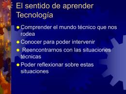 El sentido de aprender Tecnología