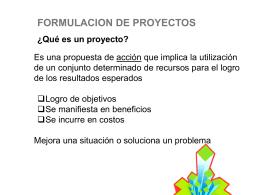 Qué es un proyecto?