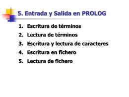 Tema 5. Entrada y Sa.. - Universidad de Valladolid