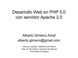 PHP - Universidad de Zaragoza