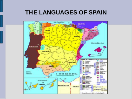 the languages of spain - COMENIUS09