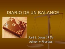DIARIO DE UN BALANCE José Luis