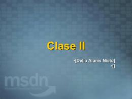 Clase II - Area para alumnos registrados