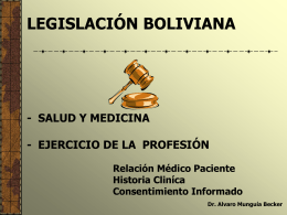 mala praxis medica - legislacion