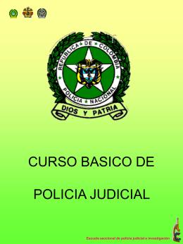 PROPUESTA DE CAPACITACION EN POLICIA JUDICIAL