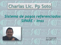 El SIPARE Charlas Lic. Pp Soto