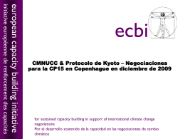 CMNUCC & Protocolo de Kyoto - European Capacity Building Initiative