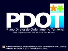 Plano Diretor de Ordenamento Territorial