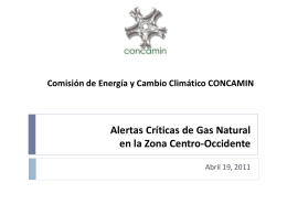 Alertas Críticas de Gas Natural en la Zona Occidente