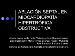ablación septal en la miocardiopatía hipertrófica obstructiva.