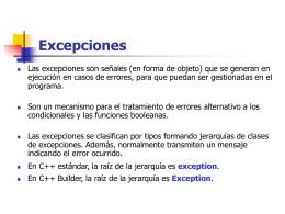 Excepciones: Captura y control