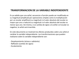 TRANSFORMACION DE LA VARIABLE INDEPENDIENTE