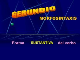 El gerundio - IES Fuente de la Peña