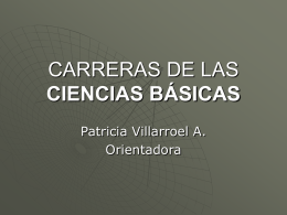CARRERAS DE LAS CIENCIAS BÁSICAS