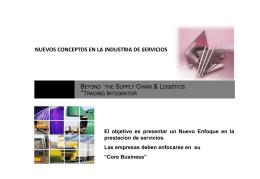 Nuevos Conceptos en la Industria de Servicios