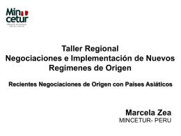 Taller Regional Negociaciones e Implementación de Nuevos