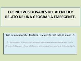 los nuevos olivares del alentejo: relato de una geografía