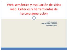 Web semántica y evaluación de páginas web: Nuevos
