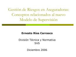 Ernesto Ríos Carrasco - Superintendencia de Valores y Seguros