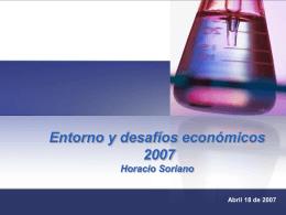 Entorno económico y los nuevos desafíos Horacio