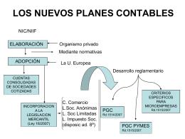 LOS NUEVOS PLANES CONTABLES