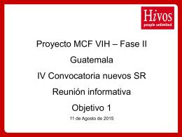 IV Convocatoria nuevos SR Objetivo 1_110815
