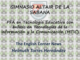 The English Corner News Helmuth Torres Hernández
