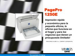 PagePro 1250E - Konica Minolta