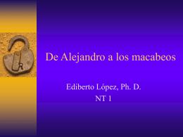 De Alejandro a los macabeos