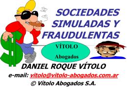 SOCIEDADES SIMULADAS y FRAUDULENTAS