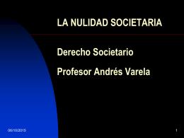 LA NULIDAD SOCIETARIA (360448)