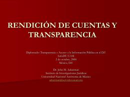 rendición de cuentas - Instituto de Acceso a la Información Pública y