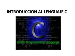 INTRODUCCION AL LENGUAJE C_v2