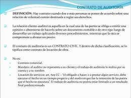 Clase IX - Contrato de auditor