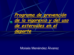 Programa de prevención de la vigorexia y del